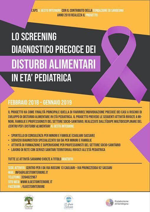 Screening diagnostico precoce dei DA in et pediatrica
