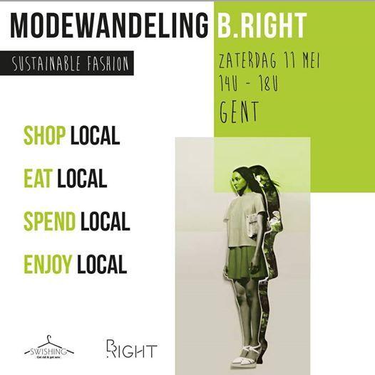 Modewandeling B.right - Sustainable fashion - Gent tour