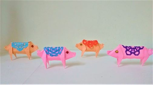 Lunar New Year Origami Fortune Piglets