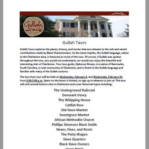 Celebrate Black History Month wGullah Tours