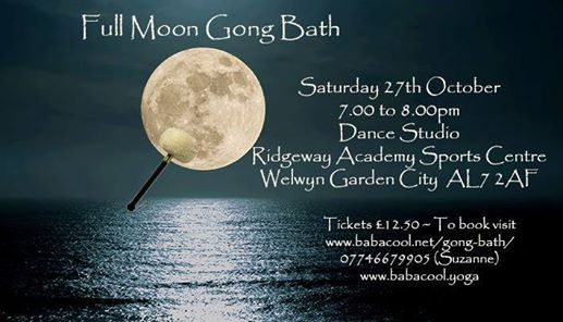 Gong Bath - Taurus Full Moon at Ridgeway Academy Sports