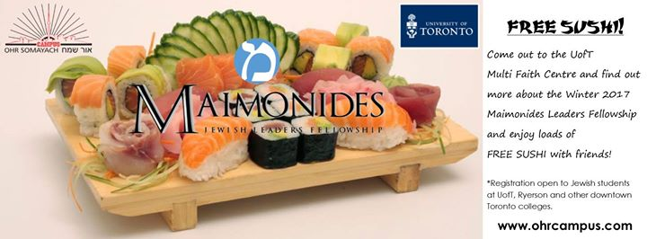 Maimonides at UofT Sushi and Info Night