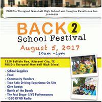 Thurgood Marshall &ampa Imagine Excellence Inc Back 2 School Festival