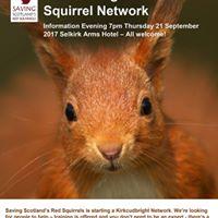 Kirkcudbright red squirrel network information evening