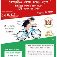 WOOLSTON ROVERS UNDER 15s GOLDS CYCLE FOR SICILY
