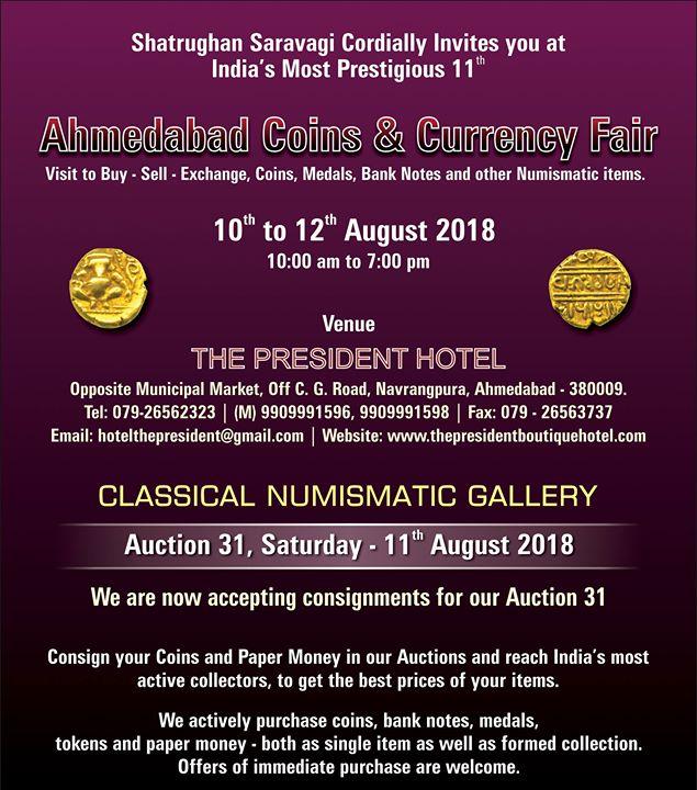 Ahmedabad Coins & Currency Fair 2018