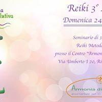 Corso Reiki Terzo Livello - Armonia di Manipura Rivalta di Torno