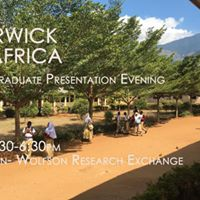 Warwick in Africa- Post Graduate Presentation Evening