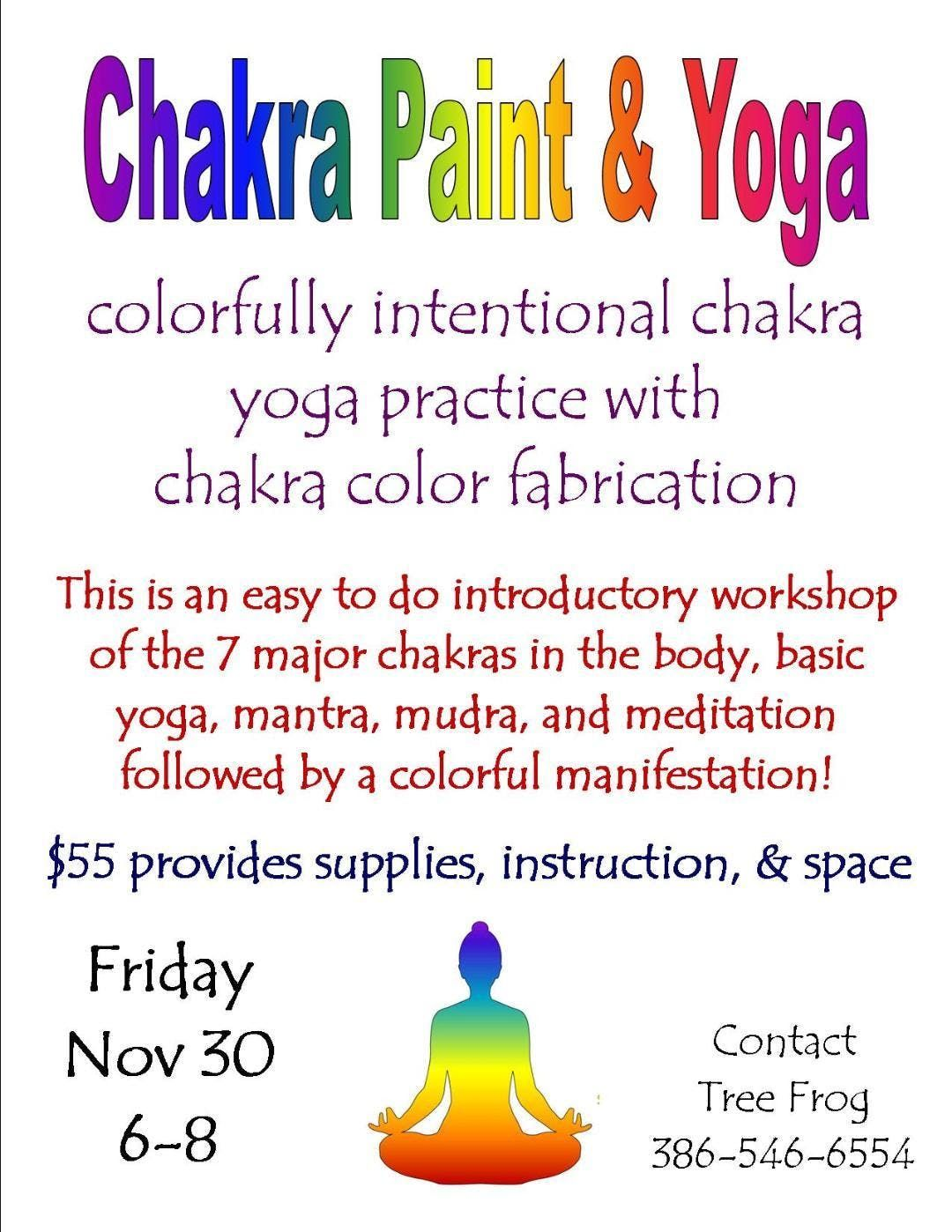 Chakra Paint And Yoga at Mossman Home Preservation Foundation, Melrose