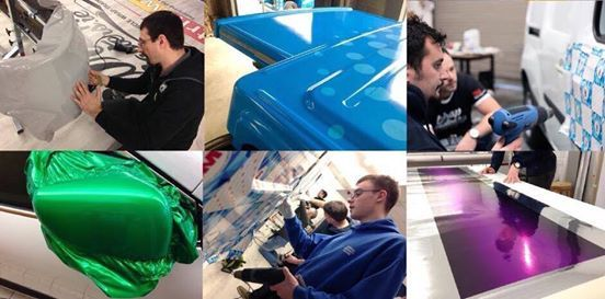 Vehicle Wrap Training using 3M material