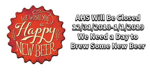 Austin Homebrew Closed For New Years Eve and New Years Day
