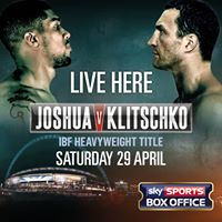Live Boxing Joshua V Klitschko