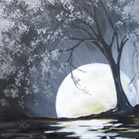 Moon river at painting with a twist houston tx for Painting with a twist arizona