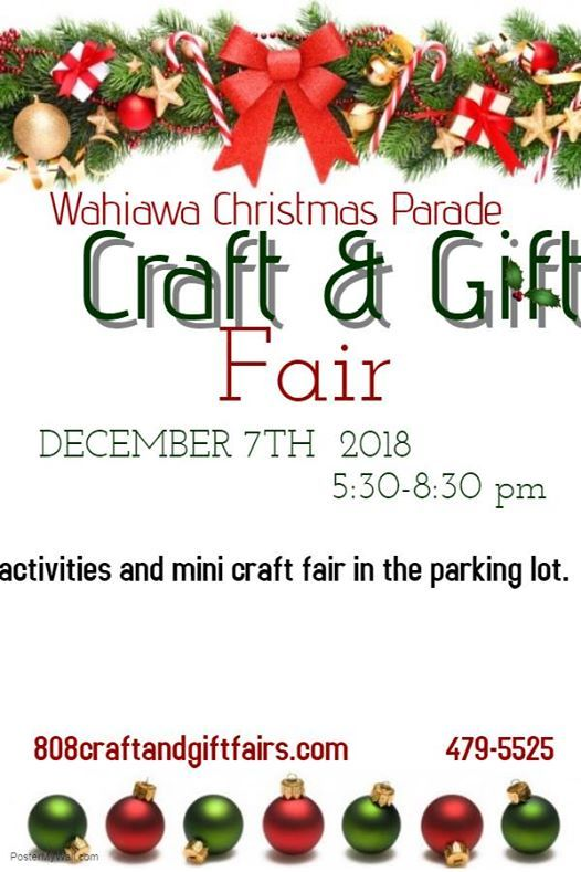 Wahiawa Christmas Parade Craft and Gift Fair