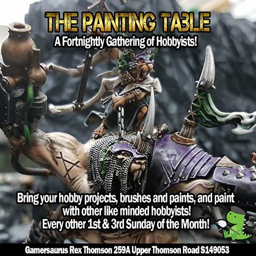 The Painting Table at Gamersaurus Rex