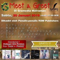 Meet And Greet Penulis RDM Publishers