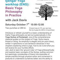 Iyengar Yoga workshop and Yoga Philosophy in Practice