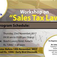Workshop on Sales Tax Law
