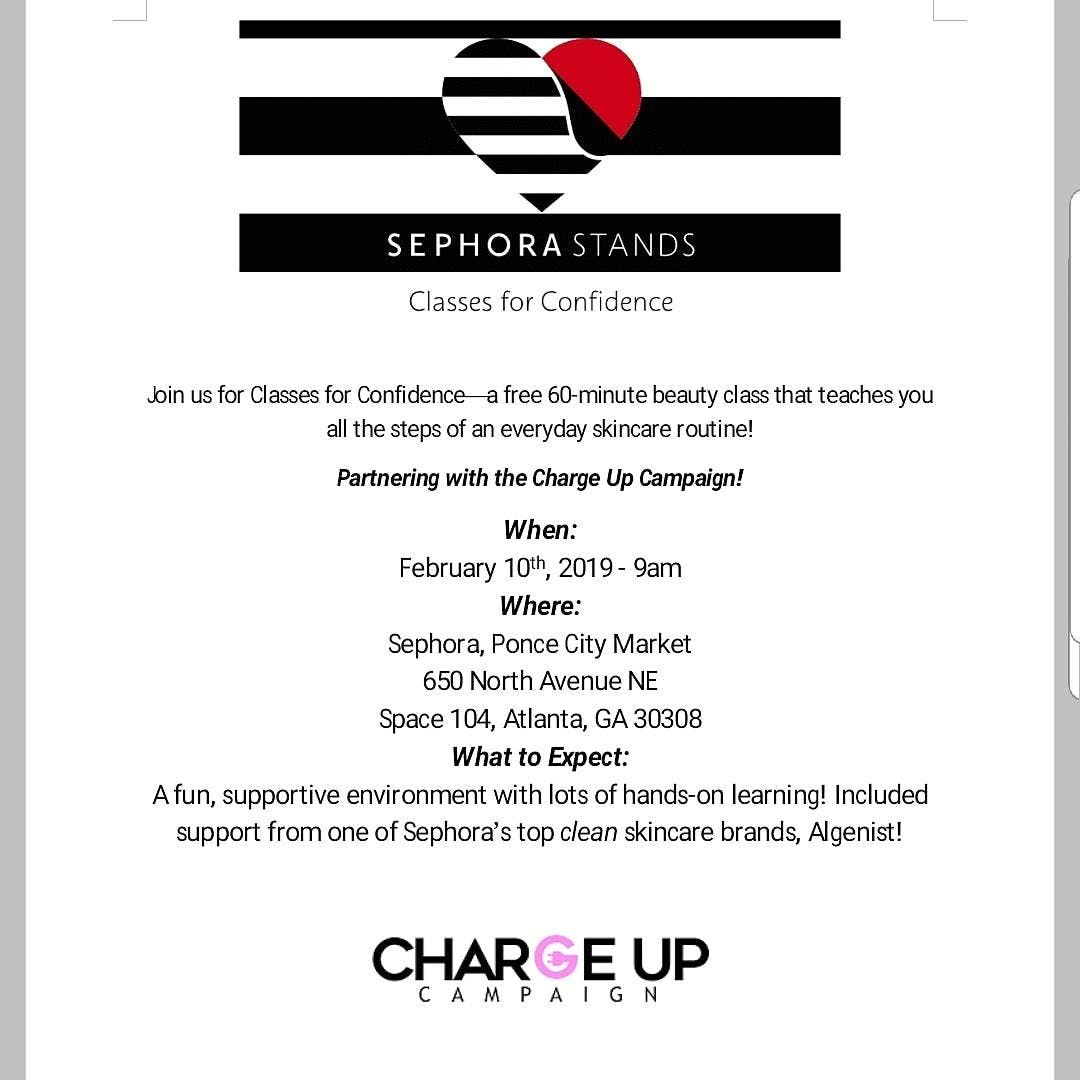 Sephora and Charge Up Campaign Class for Confidence