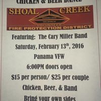 Shoal Creek Fire Prot. Dist. Chicken and Beer Dance Featuring The Cary Miller Band