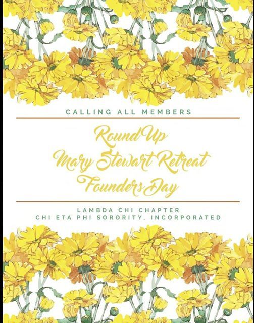 Round up mary stewart retreat and founders day at doubletree by round up mary stewart retreat and founders day greetings members m4hsunfo