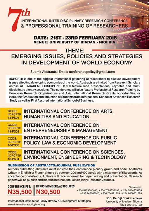 International Research Conf. & Professional Training of Research