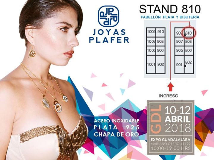 4974a7c26040 Visita Joyas Plafer en ExpoJoyas Abril 2018 at Expo Joya