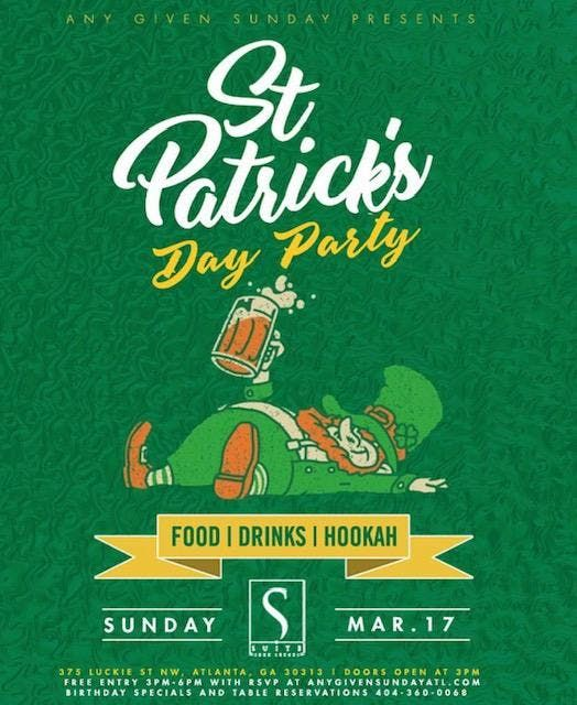 Any Given Sunday Rooftop Saint Patricks Day Party