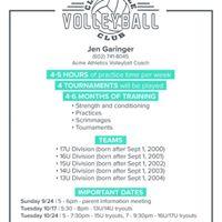Clarksville Volleyball Parent Meeting