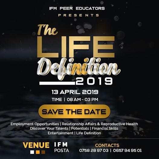 The LIFE Definition at Institute of finance management(IFM), Dar Es