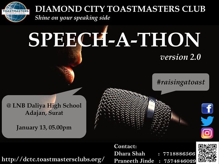 Speech-A-Thon at Diamond City Toastmasters Club