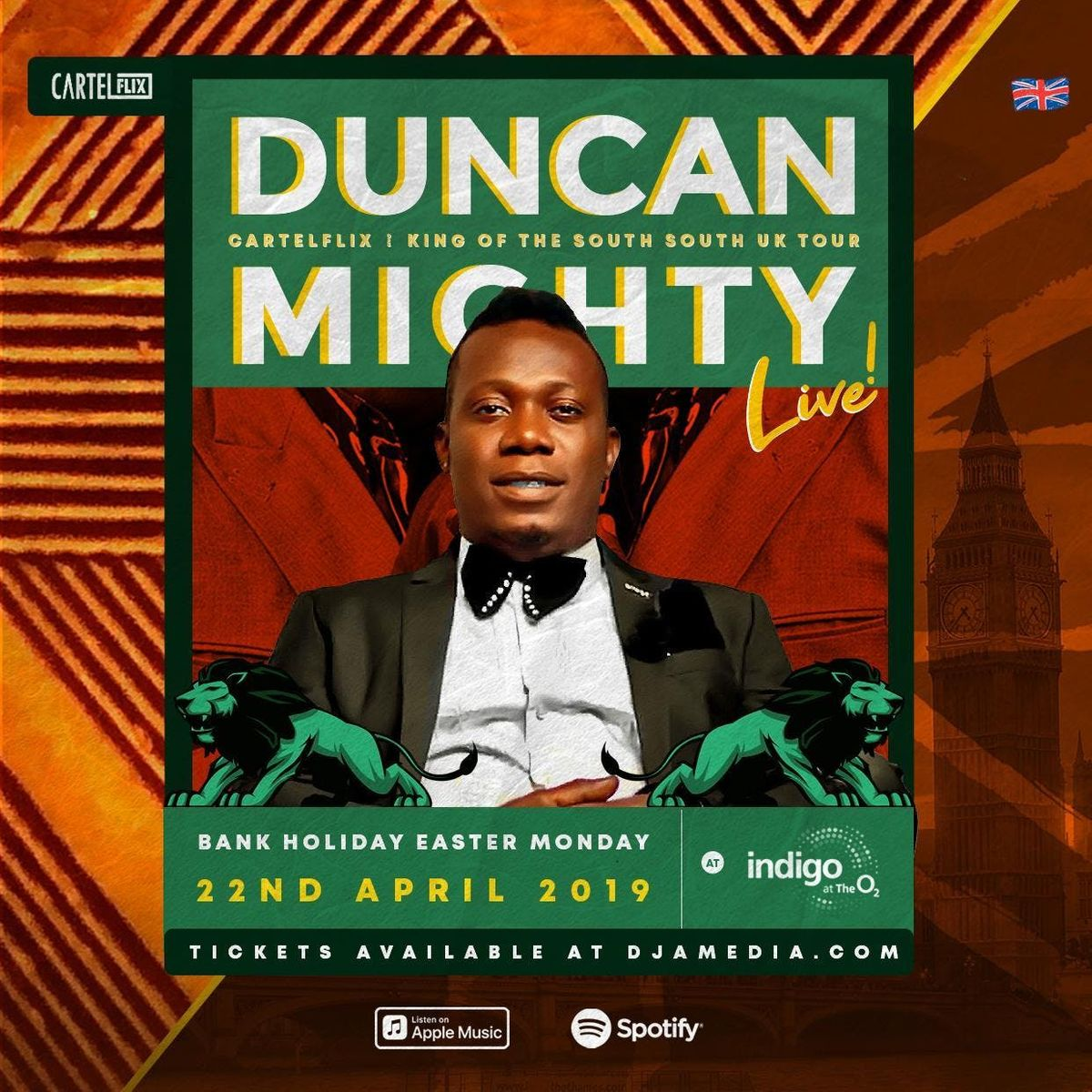 DUNCAN MIGHTY Live in London at IndigO2