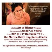 Art of Silence Program for young adults (below age 35)