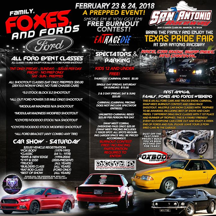 Family Foxes And FORDS Race Car Show And Swap Meet At San Antonio - Car show san antonio 2018