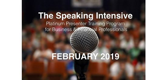 The Speaking Intensive February 2019