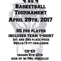 4V4 Basketball Benefit