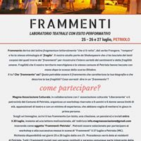 Workshop e Spettacolo Teatrale - Frammenti
