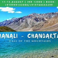Manali - Chandartal Lake