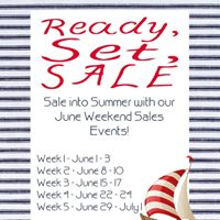 Ready Set Sale June Weekend Sales Event