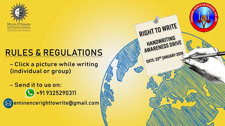 Right to Write - Global Handwriting Awareness Drive