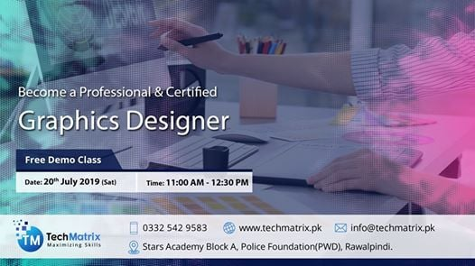 Free Demo Class for Graphic Designing Course at Tech Matrix, Murree