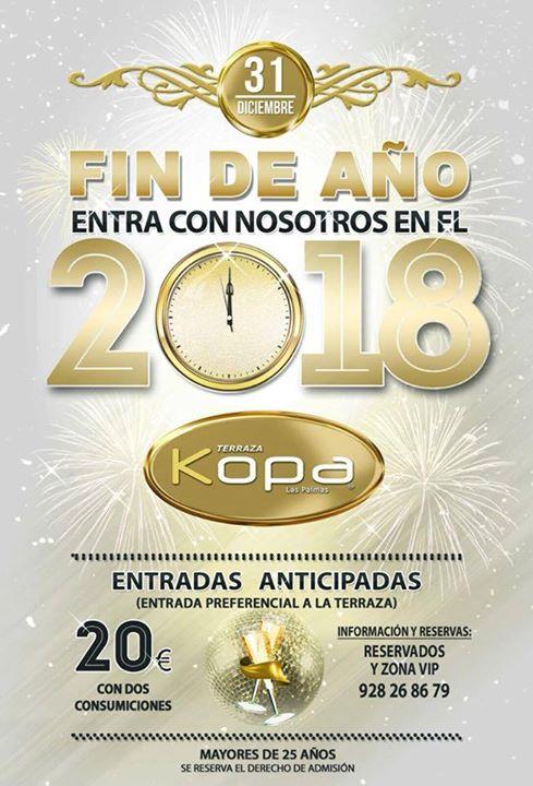 Fiesta Fin De Año 2017 En La Terraza Kopa At Kopa Las Palmas