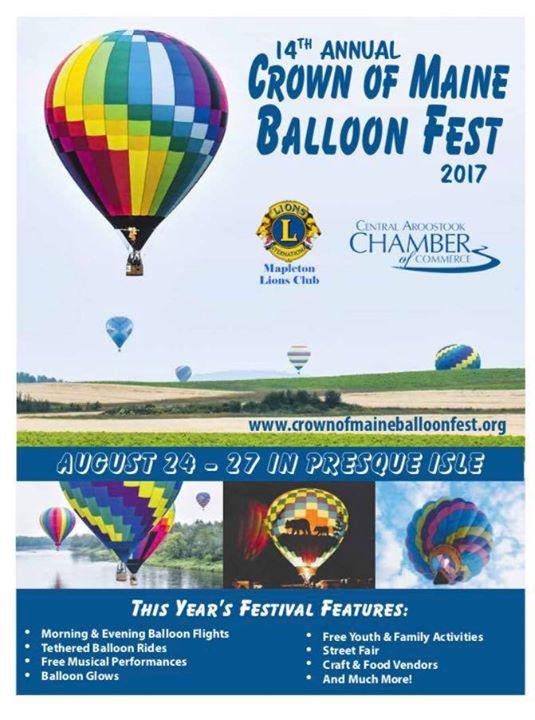 Crown of Maine Balloon Festival at Presque Isle, Maine, Presque Isle