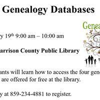 Genealogy Database Class