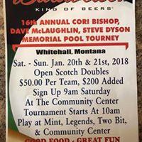 Memorial Pool Tournament Whitehall MT