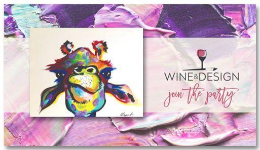 Paint Sip Winter Wonderland At Wine Design Clayton Nc
