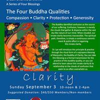 Four Buddha Qualities Clarity