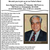 Our Dads Barsi ( Death Anniversary)