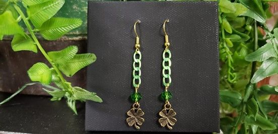 Lucky Clover Earrings 2 Make Take At Craft Warehouse Beaverton