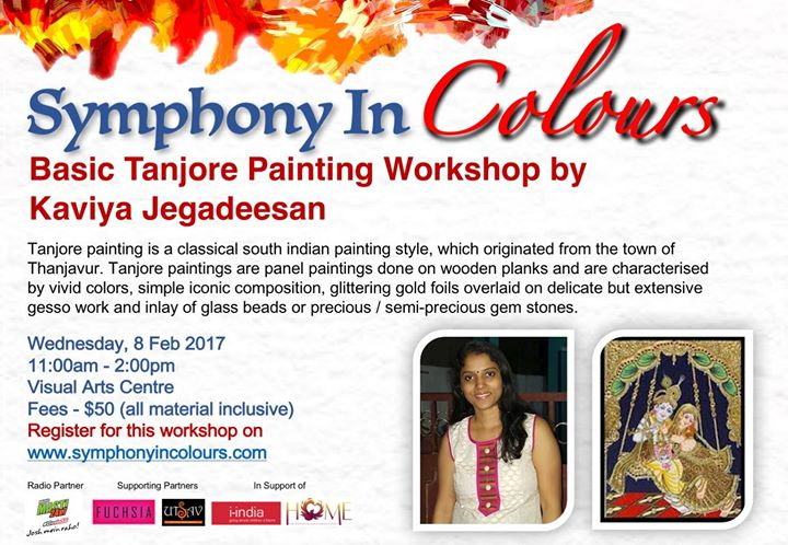 Introduction to Tanjore Painting workshop at Symphony In Colours
